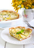 Courgette, herbs and cheese tart Royalty Free Stock Photo