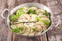 Courgette and herbs Royalty Free Stock Images