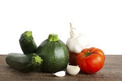 Courgette, Marrow Vegetable Nutrient, tomato, garlic Stock Image