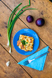 Courgette met ei en kaas Royalty-vrije Stock Foto