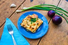 Courgette met ei en kaas Royalty-vrije Stock Afbeelding