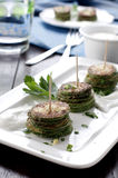 Courgette with parsley Stock Images