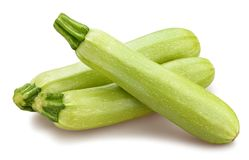 Courgette. Path isolated on white royalty free stock photo