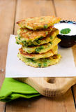 Courgette and pea patties Stock Image