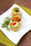 Courgette rolls Stock Image