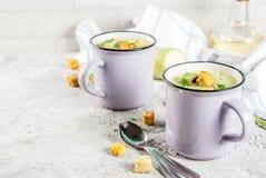 Courgette romige soep royalty-vrije stock foto