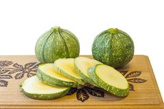 Courgette ronde Image stock