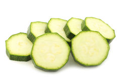 Courgette slices Stock Photo