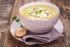 Courgette soup Stock Photos