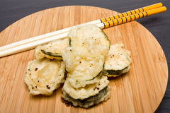 Courgette Tempura Stock Photography