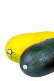 Courgette Zucchini изолированный на белой предпосылке Стоковое Фото