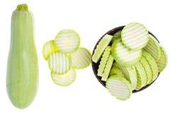 Courgette zucchini on white background. Studio Photo Stock Image