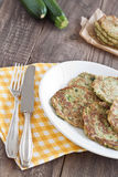 Courgettefritter Royalty-vrije Stock Foto