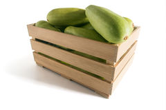 Courgettes в коробке Стоковое Изображение
