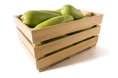 Courgettes в коробке Стоковое фото RF