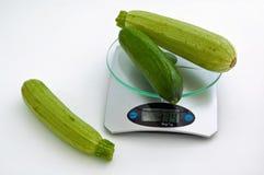 Courgettes, komkommer. Royalty-vrije Stock Foto
