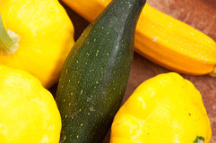 Courgettes and zucchini, farm fresh Stock Images