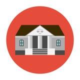Courhouse icon flat Stock Photo