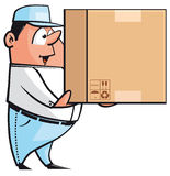 Courier. Isolated illustration of  Courier holding a package Stock Photos