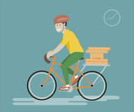 Courier Bicycle Service Stock Images