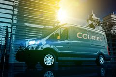 Courier in the Big City Royalty Free Stock Photography