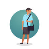 Courier Boy Icon Postal Service Delivery Worker Stock Image