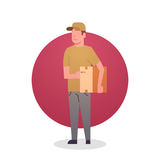 Courier Boy Icon Postal Service Delivery Worker Stock Images