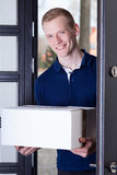 Courier brought package Royalty Free Stock Photos