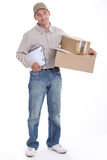 Courier with a clipboard Stock Photo