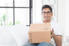 Courier delivery Royalty Free Stock Photography