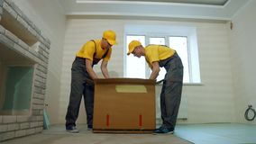 Courier delivery service. stock video footage