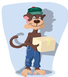 Courier delivery services Stock Photo