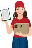 Courier delivery services Royalty Free Stock Photography