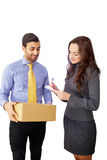 Courier delivery Stock Images