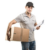 Courier hands of boxes, packages Stock Images