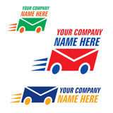 Courier logo. For courier or delivery business Stock Photos