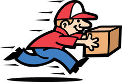 Courier Man. A courier man's running cause he's late for a delivery Stock Photography
