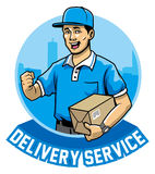 Courier man service Stock Photo