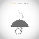 Courier online food delivery Royalty Free Stock Image