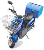 Courier scooter Stock Photo