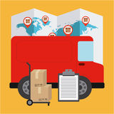 Courier service worldwide Stock Photo