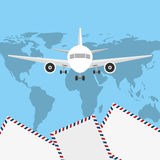 Courier service worldwide Royalty Free Stock Photo
