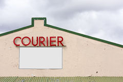 Courier signage Royalty Free Stock Photos