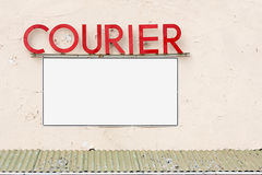 Courier signage Royalty Free Stock Images