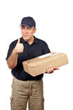 Courier success gesture Stock Images