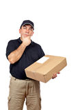 Courier thinking Stock Image