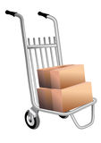 Courier trolley Royalty Free Stock Photography