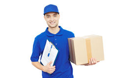 Courier at work Royalty Free Stock Photography