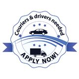 We are Hiring, Couriers and drivers wanted Stock Photography