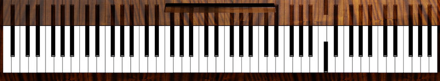 Courious piano keys Stock Images